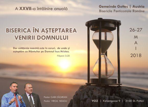 XXVII-a CONFERINȚA NAȚIONALĂ 2018